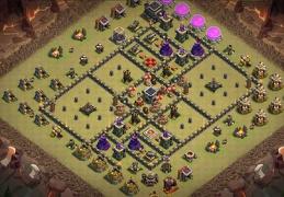 #1326 Nice War Base Layout for TH9, Diseño de Guerra Ayuntamiento 9