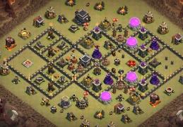 #1330 War Base Layout for TH9, Horizontal Diseño de Guerra Ayuntamiento 9