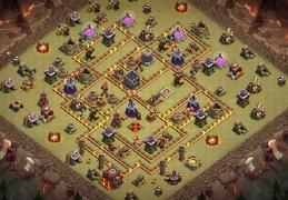 #1390 War Base Layout TH10, Diseño Guerra Ayuntamiento 10
