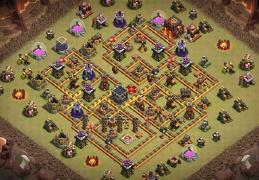 #1391 War Base Layout TH10, Diseño Guerra Ayuntamiento 10
