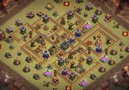 #1394 War Base Layout TH10, Diseño Guerra Ayuntamiento 10