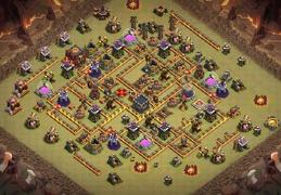 #1396 War Base Layout TH10, Diseño de Guerra Ayuntamiento 10