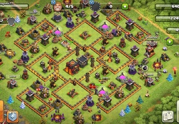 #1397 Hybrid Pushing and War Base Layout TH10, Subida de Copas y Guerra Ayuntamiento 10