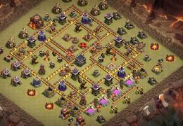 #1398 War Base Layout for TH10, Diseño de Guerra Ayuntamiento 10