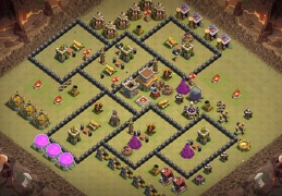 #1401 War Base Layout TH8, Diseño de Guerra Ayuntamiento 8