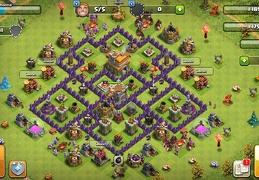 #1424 War Base Layout for TH7, Diseño de Guerra Para Ayuntamiento 7