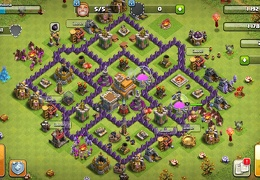 #1427 Trophy and War Base Layout TH7, Subida de Copas y Guerra
