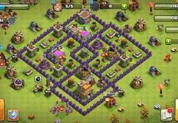 #1428 Farming Protect Dark Elixir Base TH7, Proteger Elixir Oscuro Ayuntamiento 7