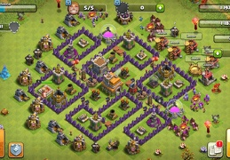 #1429 Trophy and War Base Layout TH7, Subida de Copas y Guerra