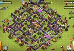 #1430 Trophy Base Layout TH7, Subida de Copas Ayuntamiento 7