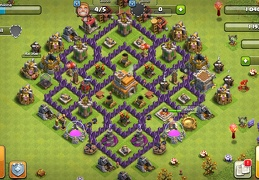 #1435 Basic Trophy Base Layout TH7, Diseño Sencillo Subida de Copas