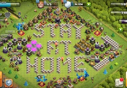 #1444 Fan Art: Stay at Home Base Layout for TH11, CODVID19 Coronavirus