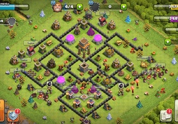 #1507 War Base Layout TH8 Kill Zone, Diseño de Guerra Ayuntamiento 8