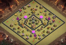 #1514 Ring War Base Layout TH8, Diseño de Anillo Guerra Ayuntamiento 8