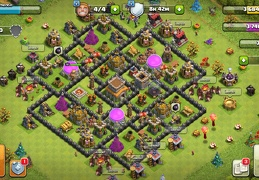 #1516 Farming and Trophy Base TH8, Subida de Copas y Farming
