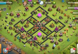 #1518 War Base Layout TH8 Troll Town Hall, Diseño Guerra Ayuntamiento 8