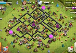 #1523 War Base layout TH8, Diseño De Guerra Ayuntamiento 8