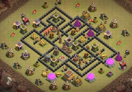 #1524 War Base layout TH8, Diseño de Guerra Ayuntamiento 8
