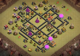 #1527 War Base Layout TH8, Diseño de Guerra Ayuntamiento 8