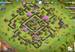 #1529 Farming Base Layour TH8, Proteger Elixir Oscuro Diseño Farming