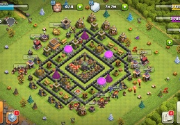 #1530 Base Layout to Protect Dark Elixir TH8, Proteger Elixir Oscuro Ayuntamiernto 8