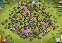 #1536 Hybrid Trophy War and Farming Base TH8, Diseño Híbrido Ayuntamiento 8