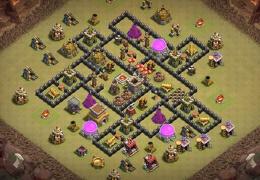 #1544 War Base Layout TH8, Diseño de Guerra Ayuntamiento 8