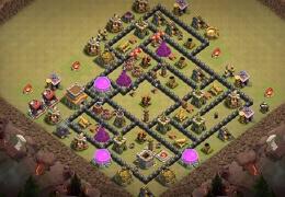 #1545 War Base Layout TH8, Diseño Guerra Ayuntamiento 8