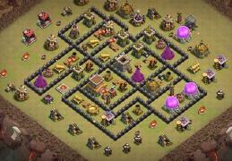 #1555 War Base Layout TH8, Diseño de Guerra Ayuntamiento 8