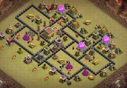 #1556 War Base Layout TH8, Diseño de Guerra Ayuntamiento 8