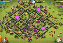#1606 War and Farming Base TH8, Disexño de Guerra y Farming Ayuntamiento 8