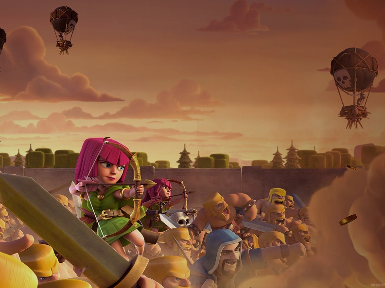 Battle Wallpapers, Fondo de Ballta, Tropas de Elixir, Clash of Clans