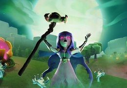 Bruja y sus Hechizos, Witch, Halloween Clash of Clans Wallpaper