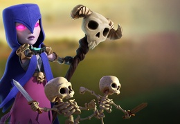 Bruja de Clash of Clans, Witch and Skeletons
