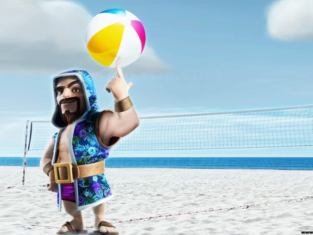 Mago en La Playa, Wizard in the Beach, Clash of Clans Calendario, Verano, Summer