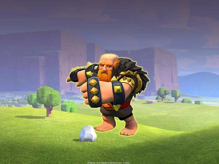 Gigante Nivel 8 con Fondo de Clash of Clans