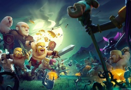 Fondo de Inicio de Halloween Clash of Clans 2016